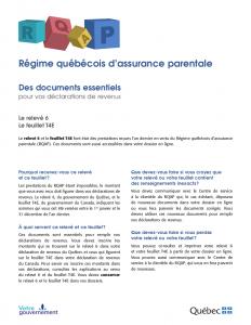 Dépliant RQAP - Informations Impôts